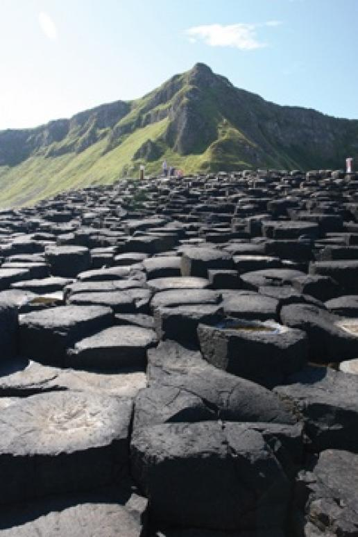 The giant's causeway where a new visitor centre is to be built of the local stone, thanks to the 'Stone by Stone' project.