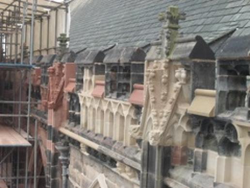 Midland Conservation's work at Lichfield Cathedral.