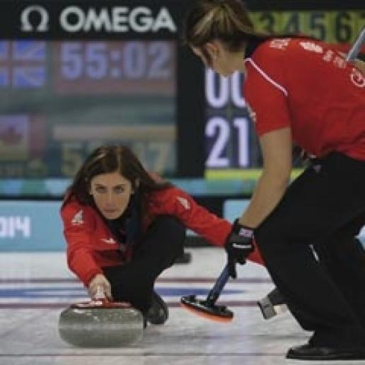 The curling stones used at the Winter Olympics came from Kays of Scotland. Photo: World Curling Federation / Richard Gray
