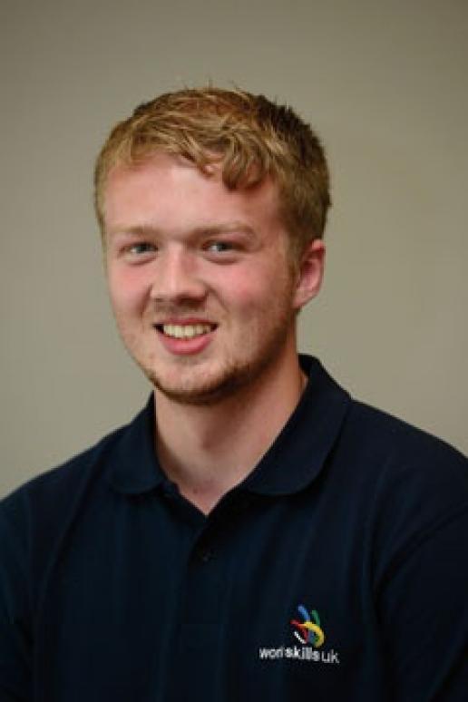 Sam Turner, who will represent UK stonemasonry at World Skills in August.