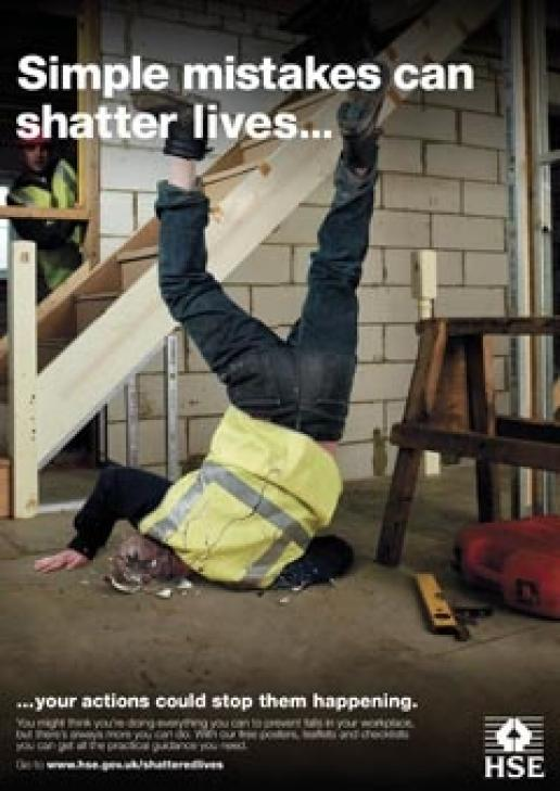 Falls kill and injure a lot of people in construction but campaigns such as the HSE's Shattered Lives could become a casualty of the cuts.