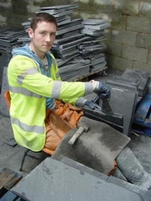 Slate is still split by hand in Wales to make roofing slate that is highly regarded in many parts of the world.