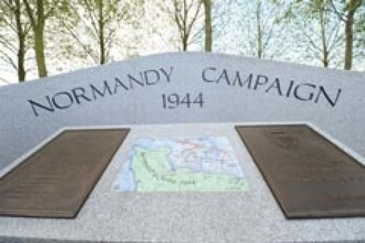 The D-Day memorial made by stoneCIRCLE for the National Memorial Arboretum.