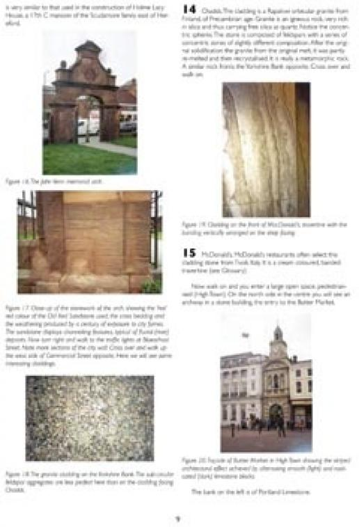 A page from the Hereford city centre Trail that can now be downloaded from the English Stone Forum website.