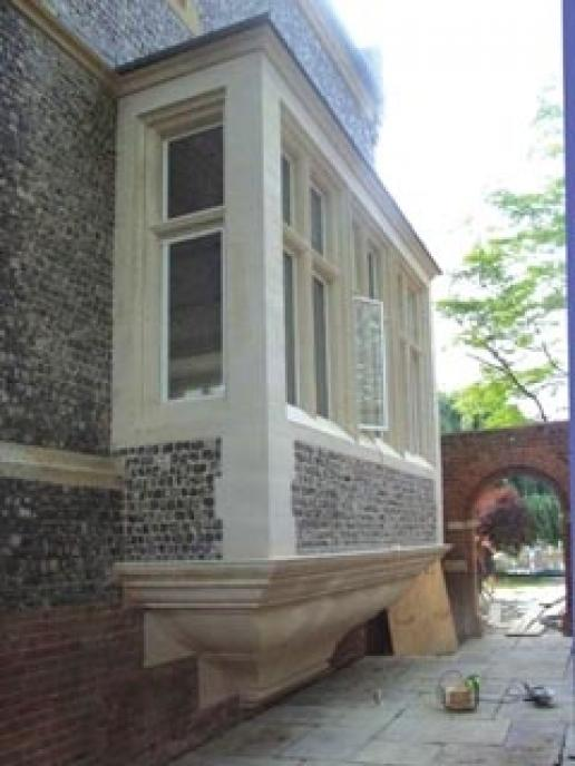 Part of the AF Jones addition to Old Bridge House.