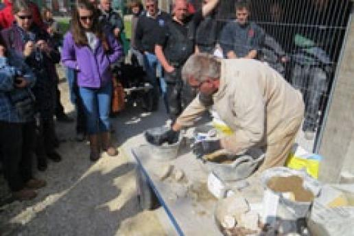 Nigel Copsey mixes hot lime, dispelling some myths about the danger of it.