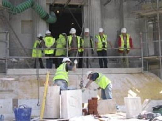 Delegates during a site visit on SPAB's Repair of Old Buildings Course last year.