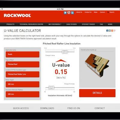 The Rockwool U-Value calculator